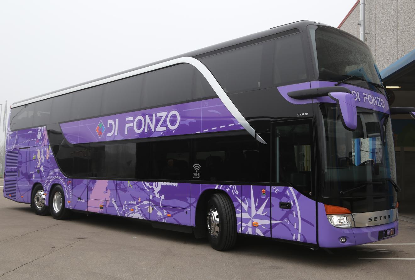Setra s431 il due piani per la di fonzo autobus web for Piani per la macchina