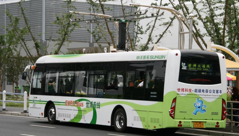 Expo 2010 bus in Shanghai