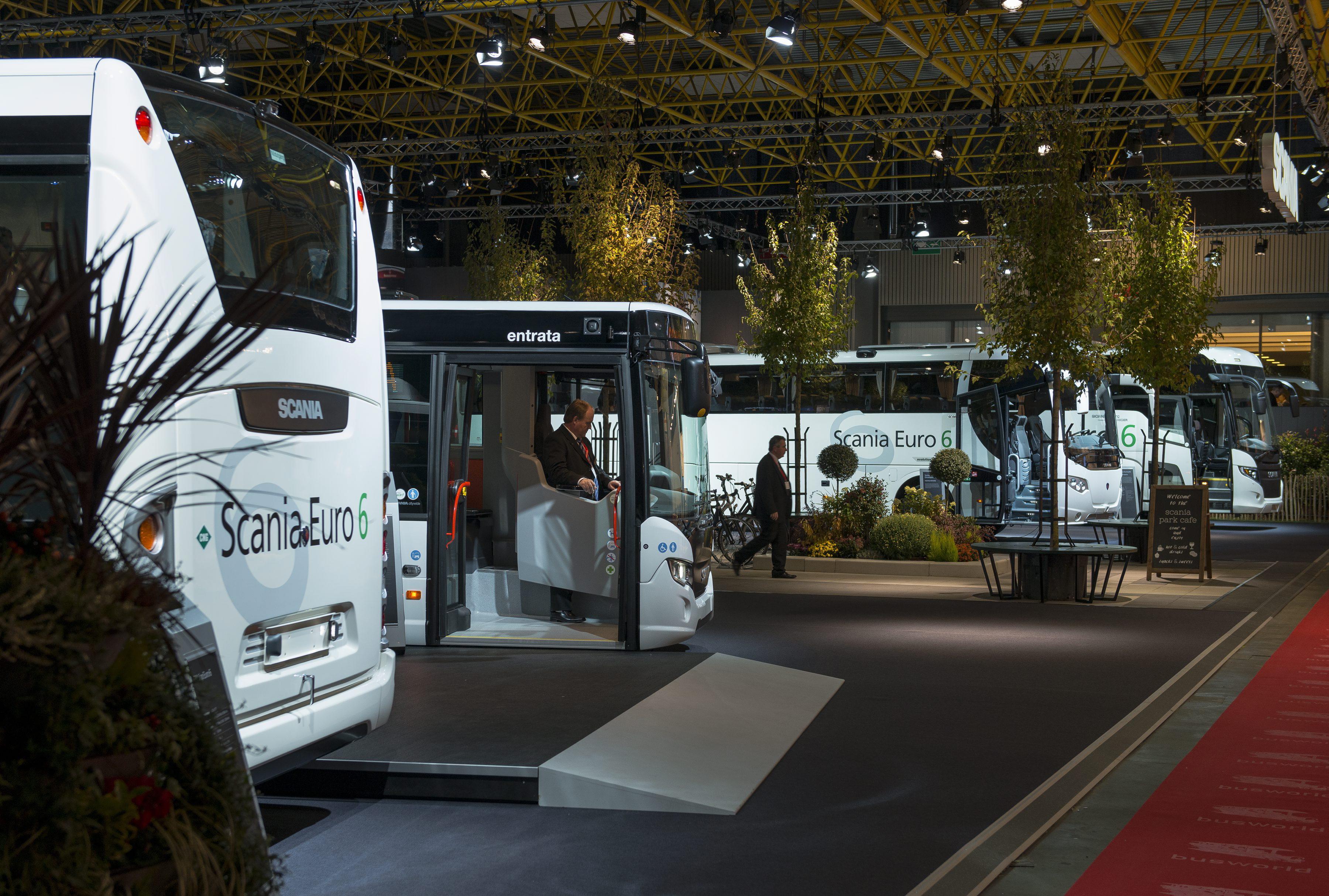 Scania stand at the Busworld Exhibition 2013 Kortrijk, Belgium Photo: Dan Boman 2013