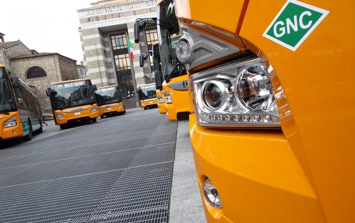 brescia mobilità autobus urbanway a metano iveco - brescia trasporti