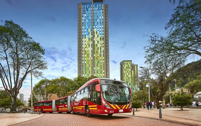 BRT Transmilenio - autobus volvo brt bogotà colombia