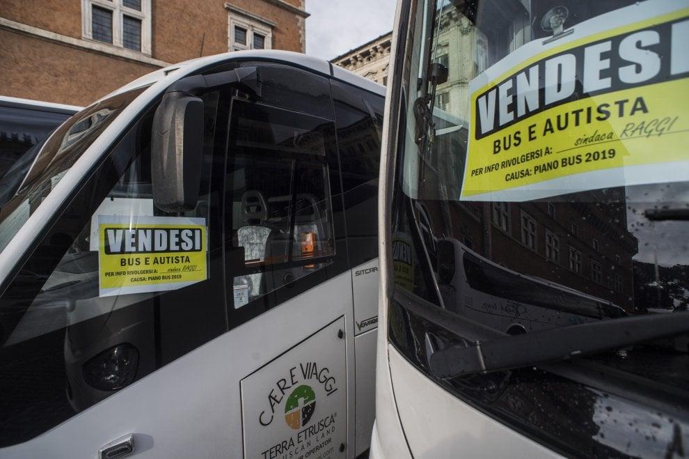 protesta autobus ztl bus roma