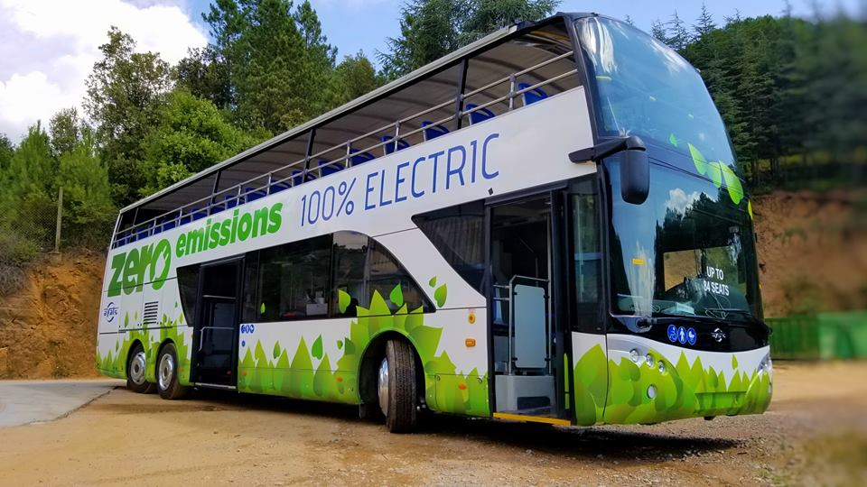 electric open top electric bus
