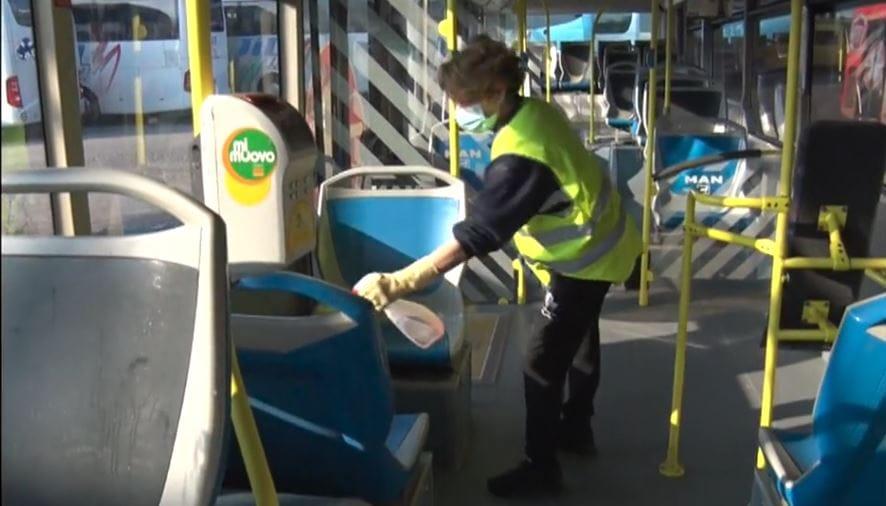 sanificazione autobus