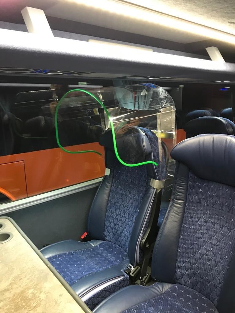 bode sud protezione anti droplet bus turistici