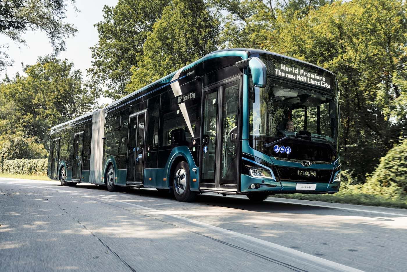 man lion's city 18 e bus elettrico articolato