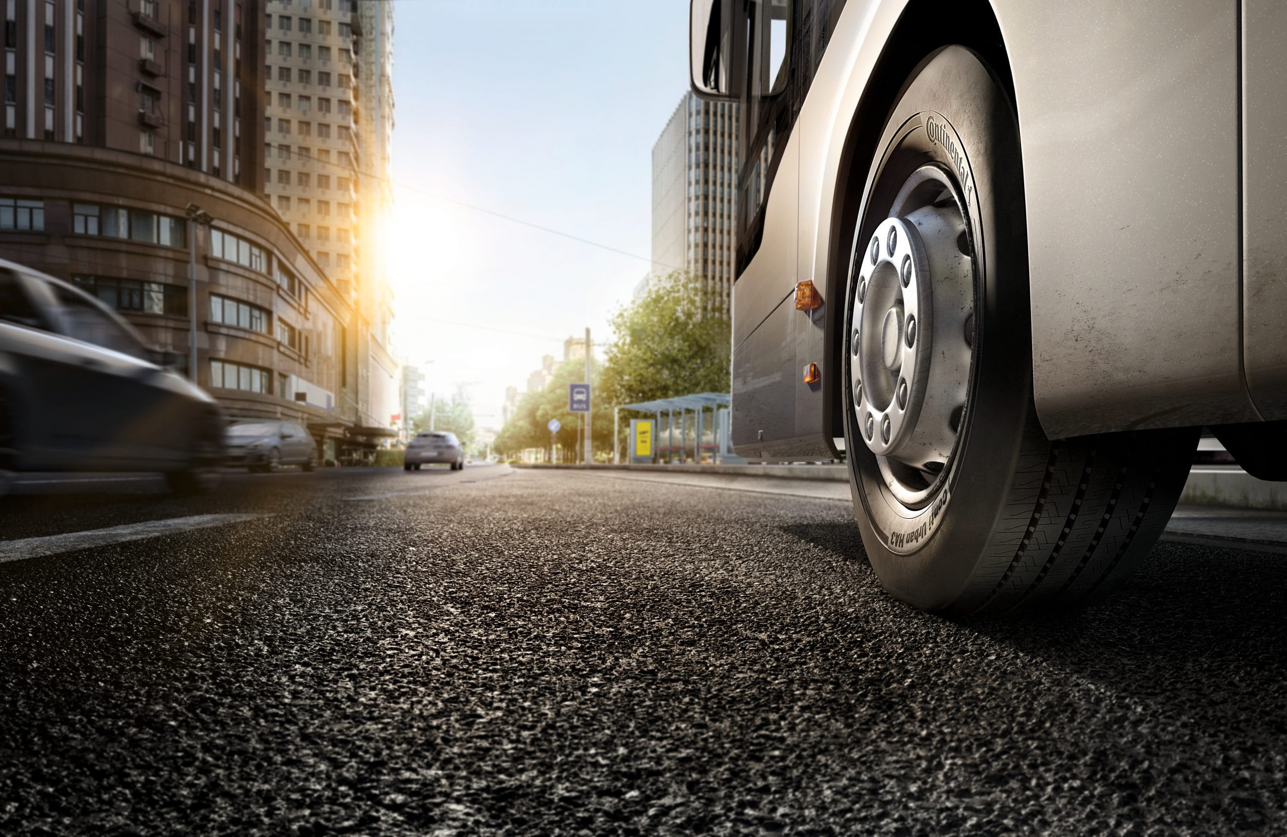 Lo pneumatico per gli autobus elettrici